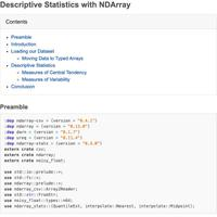 Descriptive Statistics with NDArray