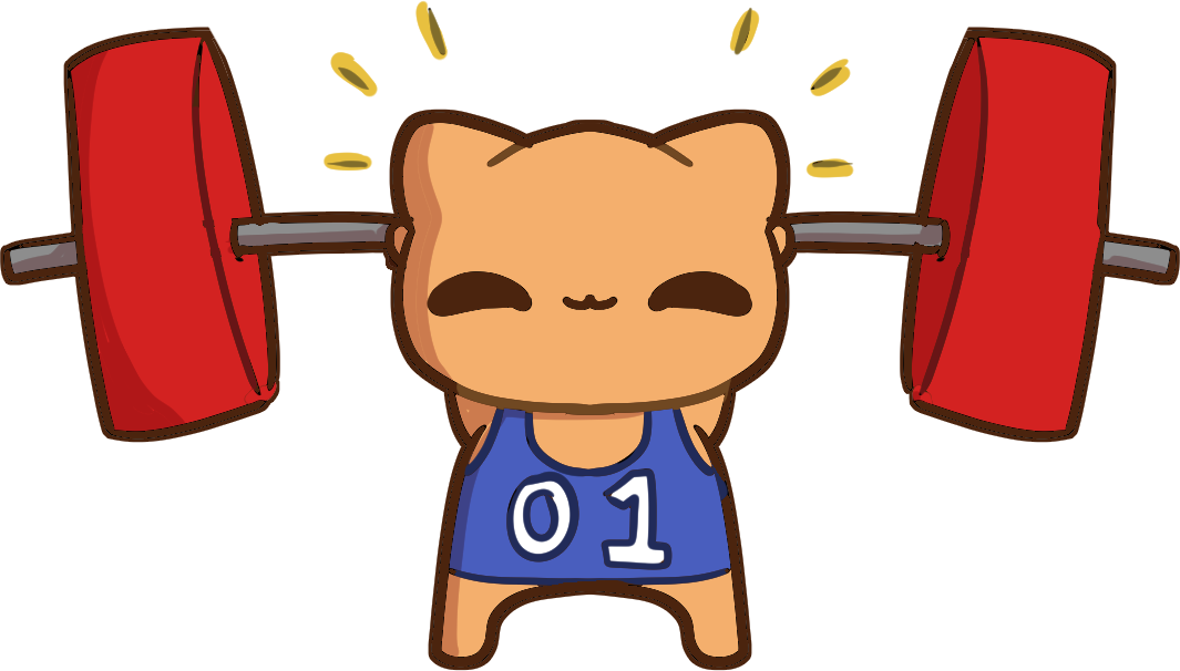 Weightlifting cats